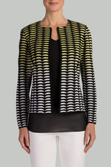 Geometric Gradient Jacket Color Aurora/Black/White