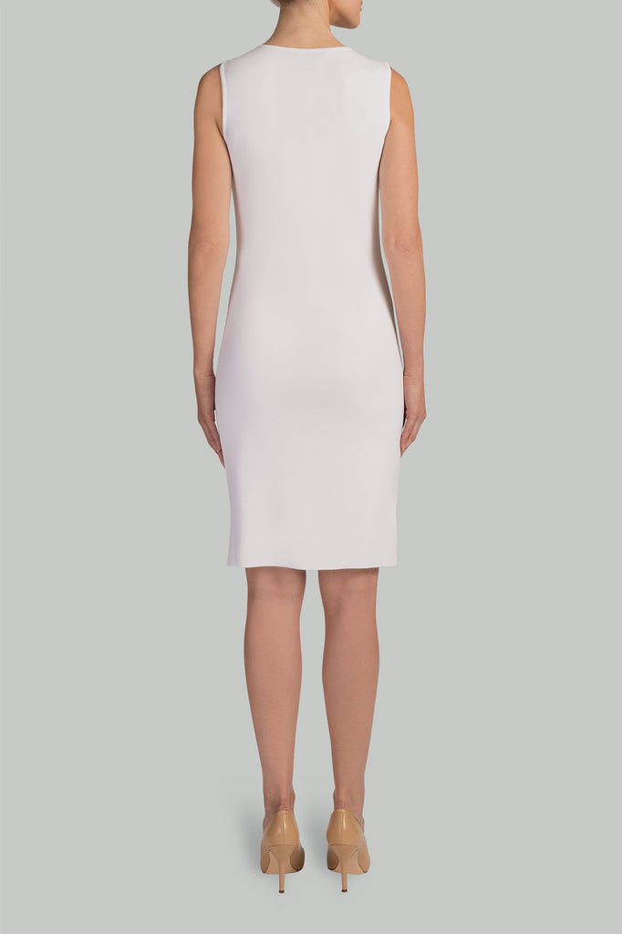 Lined Demi Dress Color White