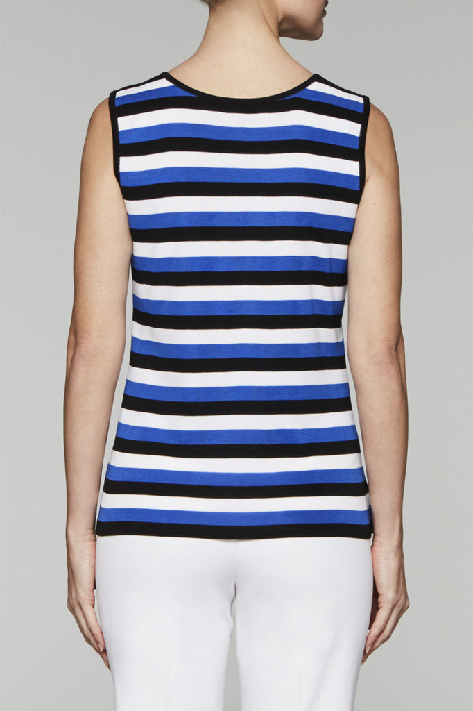 Nautical Scoop Neck Tank Color Patriot Blue/Black/White