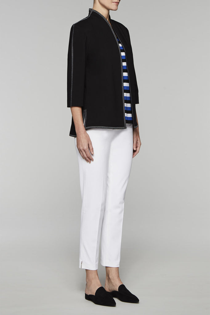 Pleated Back Jacket Color Black/White
