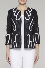 Sheer Sunflower Jacket Color Black/White