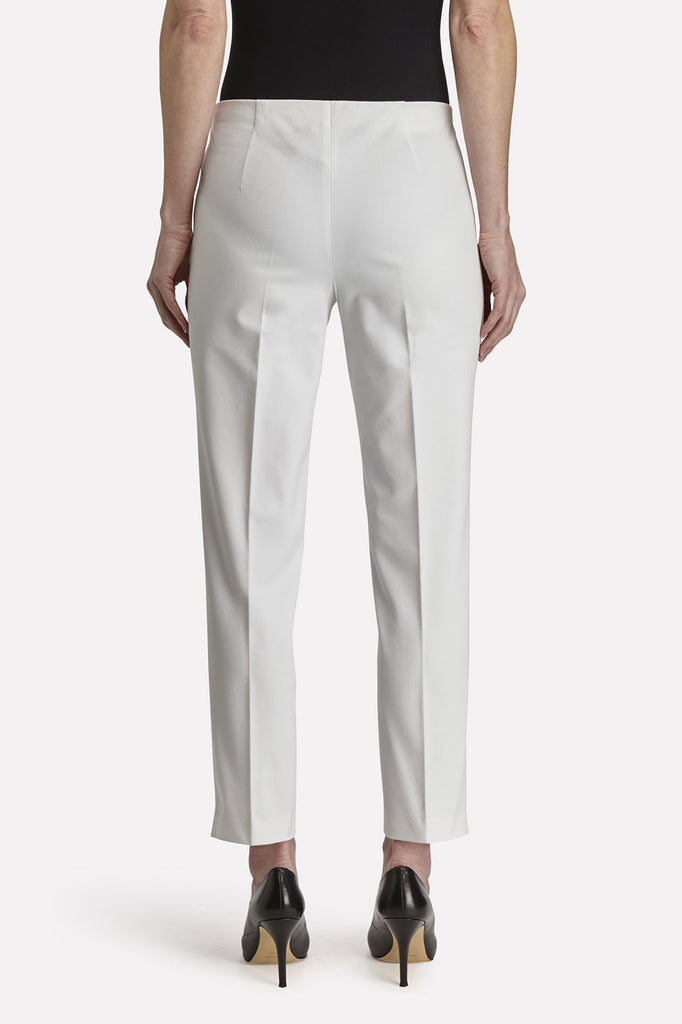 Side-Zip Woven Pant Color White