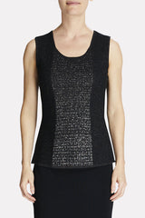 Silver Shimmer Knit Tank Color Black/Silver