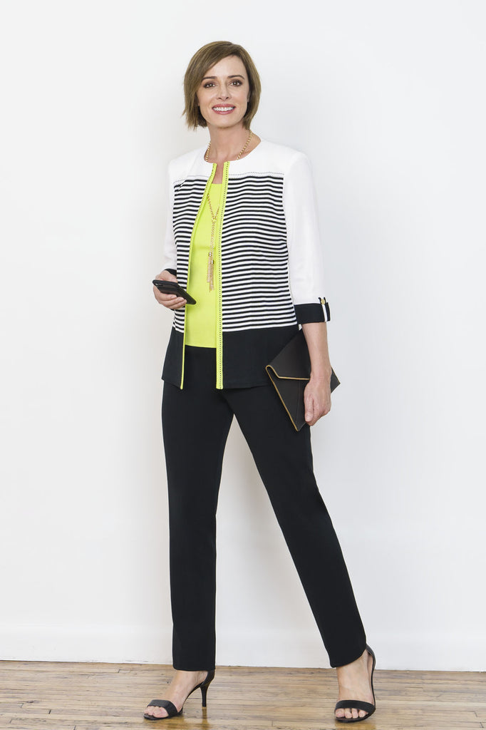 Striped Colorblock Jacket
