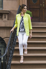Structured Fit Jacket Color Pear/Black/White