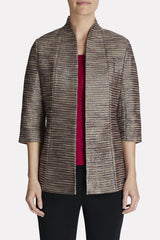 Tri-Toned Shimmer Jacket Color Charged Pink/Black/Ivory