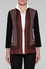 Zinnia Stripe Pattern Jacket