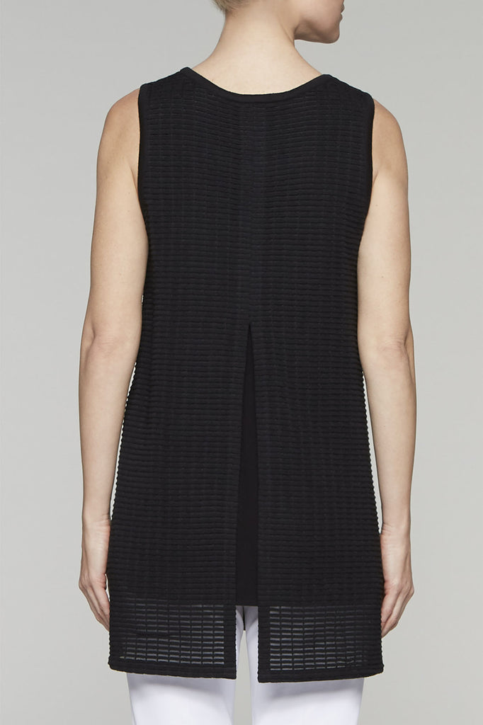 Cage Knit Tank Dress Color Black