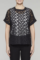 Sheer Vine Tunic Color Black