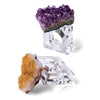 4 Piece Geode Napkin Ring Set