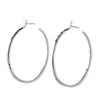 Message Hoop Earrings - Sterling Silver
