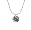 """No Liddering"" Diamond & Sterling Silver Coffee Lid on Sterling Silver Chain"