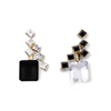 Duotone 57th Street Earrings with White Topaz & Black Onyx Drops