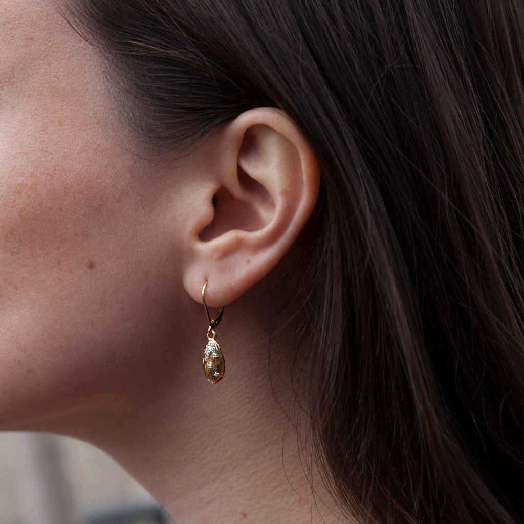 """We are Alm-ighty"" Diamond & 23K Gold Vermeil Earrings"