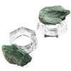 4 Piece Fuschite & Crystal Napkin Ring Set