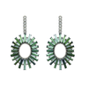 Madison Earrings with Detachable Diamond & Tourmaline Drops