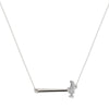 """Hammer Home Your Message"" Diamond & Sterling Silver Necklace on Sterling Silver Chain"