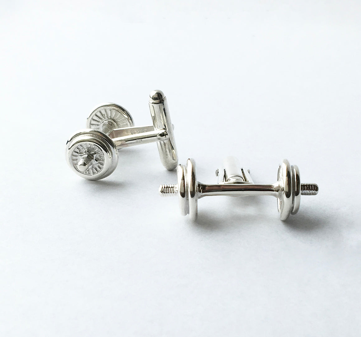 """Fit to Succeed"" Dumbbell Cufflinks"