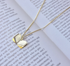 """Investing in Dreams"" Gold Vermeil & Sterling Silver Necklace on Gold Vermeil Chain"