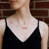 """Screw You...I Got This"" Diamond & 18K Rose Gold Vermeil Necklace on Black Silk Cord"