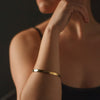 """Power Tools"" Diamond & 23K Gold Vermeil Bangle"