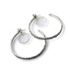 White Tahini Hoop Earrings
