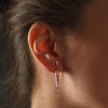 """Root for Us"" Diamond & 18K Rose Gold Vermeil Earring"