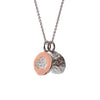 """One in a Melon"" Diamond, Sterling Silver & 18K Rose Gold Vermeil Necklace on Silver Chain"