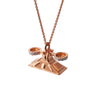 """Worth My Weight"" Diamond & 18K Rose Gold Vermeil Necklace on Rose Gold Vermeil Chain"