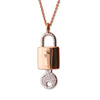 """Unlock Your Purpose & Passion"" Diamond & 18k Rose Gold Vermeil Necklace on Rose Gold Chain"