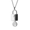 """Unlock Your Purpose & Passion""  Diamond & Sterling Silver Necklace on Silver Chain"