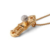 """Check Your Bias at the Door"" Diamond & 23K Gold Vermeil Necklace on Gold Chain"