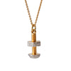 """Stronger Together"" Diamond & 23k Gold Vermeil Necklace on Gold Chain"