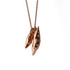 """I Yam Successful"" White Diamond & 18K Rose Gold Vermeil Necklace on Rose Gold Vermeil Chain"