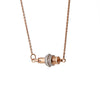 """Ingnite Equality"" Diamond & 18k Rose Gold Vermeil Necklace on Rose Gold Vermeil Chain"