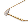 """Forge Ahead"" Diamond & 23K Gold Vermeil Necklace on Gold Vermeil Chain"
