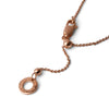 """It All Starts Here"" Diamond & 18K Rose Gold Vermeil Necklace on Rose Gold Vermeil Chain"