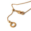 """Genius"" Diamond & 18K Gold Vermeil Necklace on Gold Vermeil Chain"