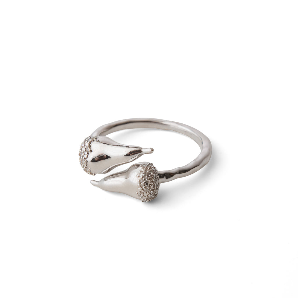 """Pear-adigm Shift"" Diamond & Sterling Silver Ring"