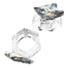 4 Piece Kyanite & Crystal Napkin Ring Set