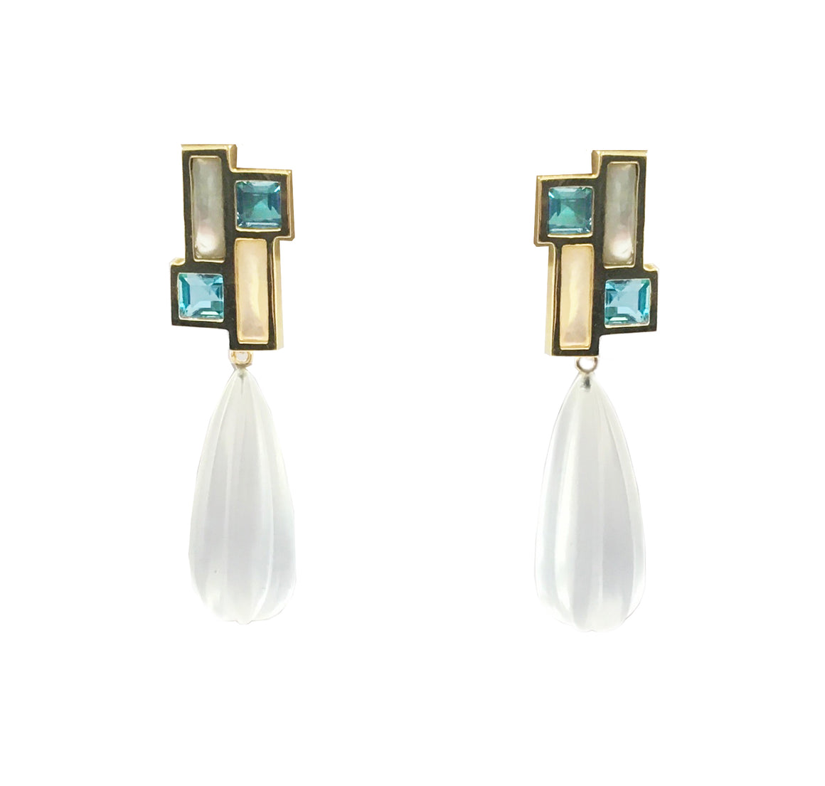 Mondrian Sky Earrings