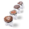 4 Piece Petrified Wood Napkin Ring Set
