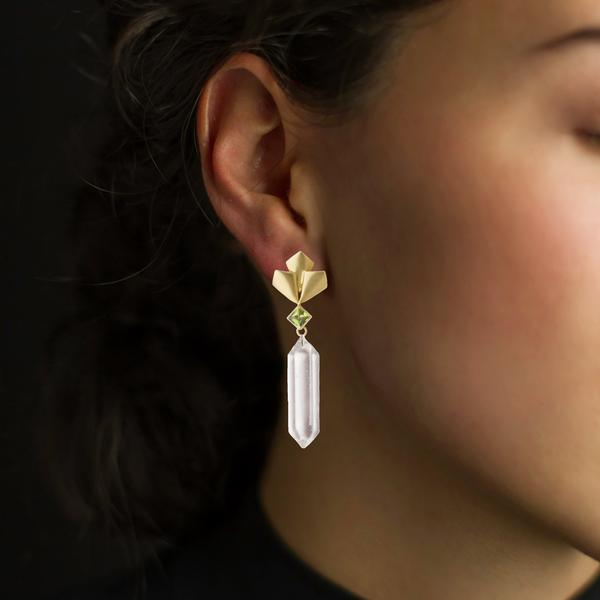Barrymore Earrings with Herkimer Drops