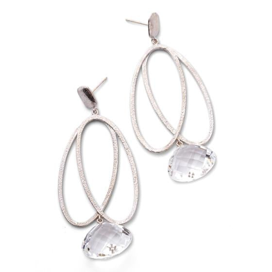 Joshie Earrings - White Gold