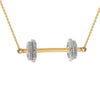 """Fit to Succeed"" Diamond & 23K Gold Vermeil Necklace on Gold Vermeil Chain"