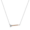 """Screw You...I Got This"" Diamond & 18K Rose Gold Vermeil Necklace on Silver Chain"