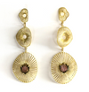 Roomi Earrings with Tourmaline Tulips
