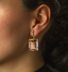 Georgie Earrings with Citrine