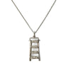 """Steps for Equality"" Diamond & Sterling Silver Necklace on Silver Chain"