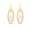 Diamond Together Pearl Earrings